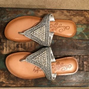 Anthropologie studded sandals size 9